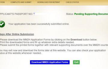 MM2H申請画面